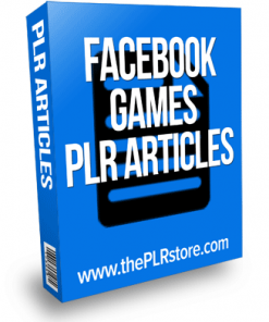facebook games plr articles