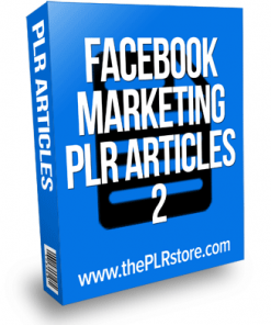 Facebook Marketing PLR Articles 2