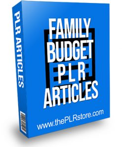 Family Budget PLR Articles