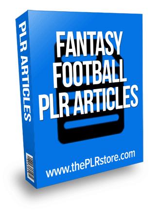fantasy football plr articles