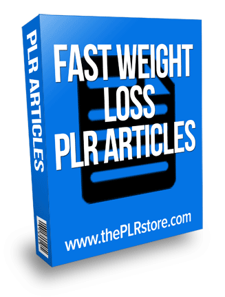 fast weight loss plr articles
