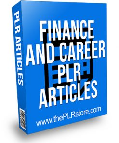 Finance and Career PLR Articles