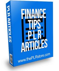 Finance Tips PLR Articles