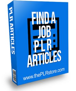 Find a Job PLR Articles