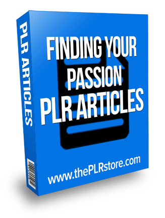 finding your passion plr articles
