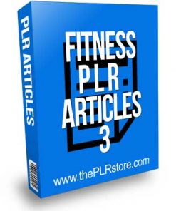 Fitness PLR Articles 3