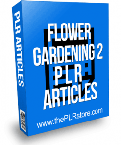 Flower Gardening PLR Articles 2