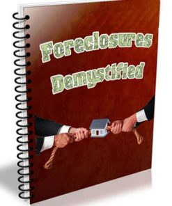 foreclosures demystified plr ebook