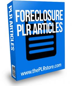 foreclosure plr articles
