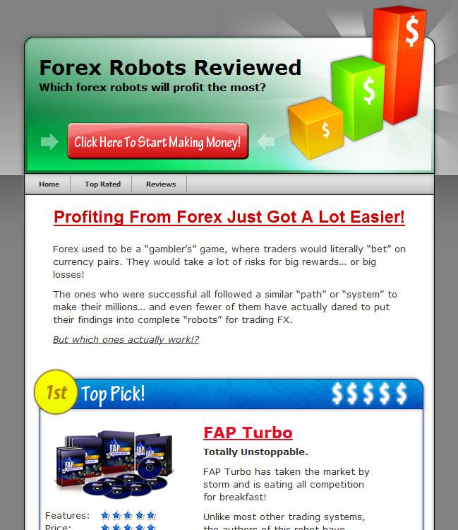 Forex Reviews PLR Wordpress Template