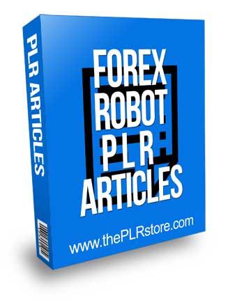 Forex Robot PLR Articles