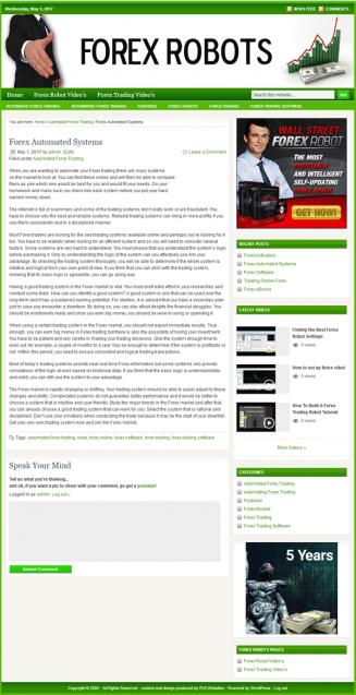 forex robots plr website