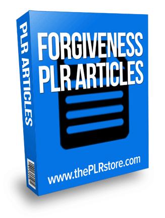 forgiveness plr articles