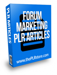 forum marketing plr articles