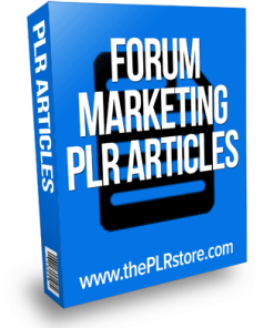 forum marketing plr articles
