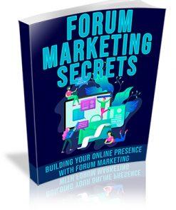Forum Marketing Secrets PLR Ebook