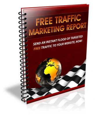 Free Traffic Marketing PLR Report Ebook free traffic marketing plr ebook cover 327x401