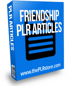 friendship plr articles