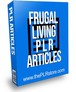 Frugal Living PLR Articles