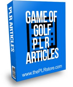 Game of Golf PLR Articles