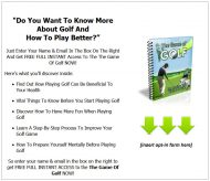 private label rights Private Label Rights and PLR Products game of golf plr listbuilding squeeze page 190x164