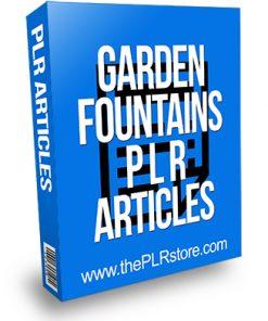 Garden Fountains PLR Articles