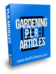 Gardening PLR Articles