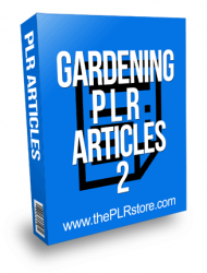 Gardening PLR Articles 2