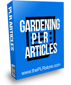 Gardening PLR Articles
