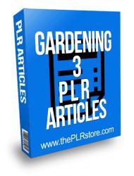 Gardening PLR Articles 3