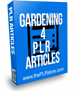 Gardening PLR Articles 4