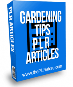 Gardening Tips PLR Articles