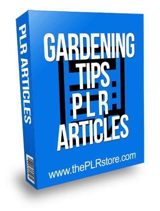 Gardening Tips PLR Articles