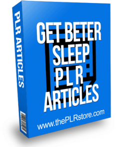 Get Better Sleep PLR Articles