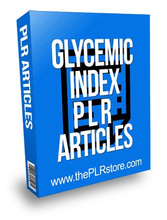 Glycemic Index PLR Articles