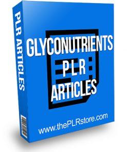 Glyconutrients PLR Articles