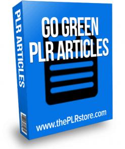go green plr articles