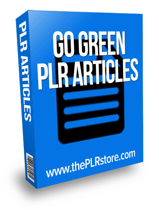 go green plr articles