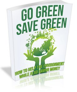 Go Green Save Green PLR Ebook