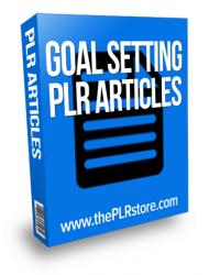 goal setting plr articles goal setting plr articles Goal Setting PLR Articles with Private Label Rights goal setting plr articles 190x250