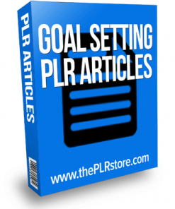 goal setting plr articles