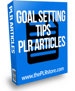 goal setting tips plr articles