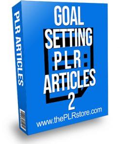 Goal Setting PLR Articles 2