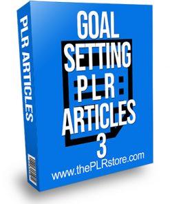 Goal Setting PLR Articles 3