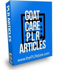 Goat Care PLR Articles