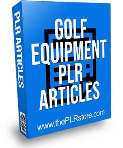 Golf Equipment PLR Articles