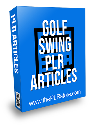 Golf Swing PLR Articles