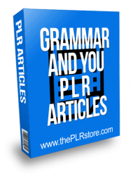Grammar and You PLR Articles