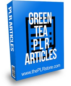 Green Tea PLR Articles