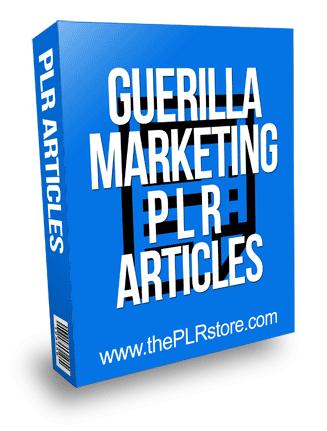 Guerilla Marketing Tactics PLR Articles